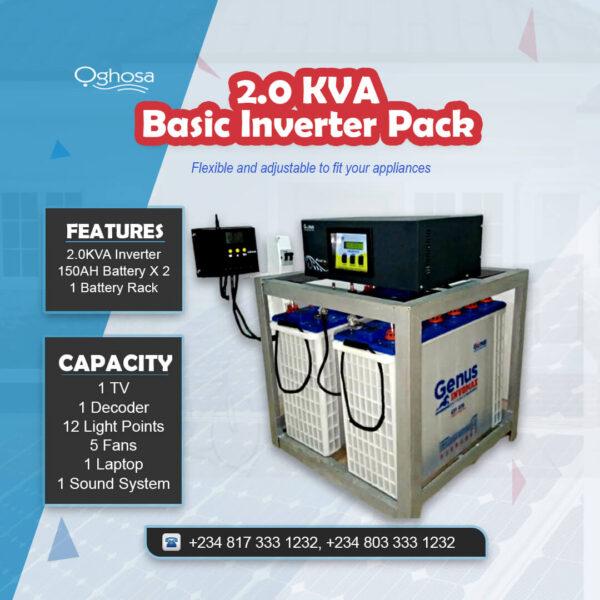 2.0 KVA Basic Inverter Pack