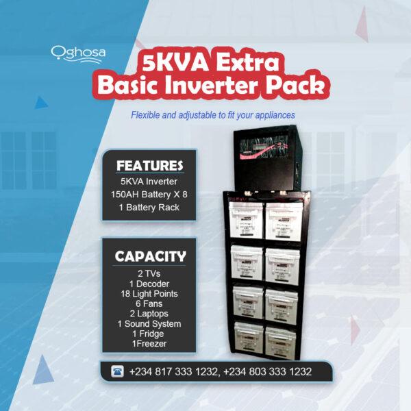 5 KVA Extra Basic Inverter Pack
