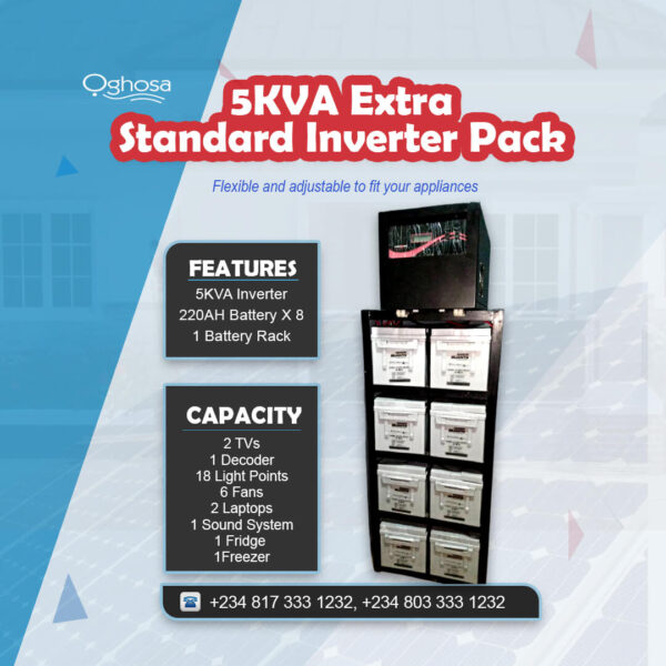 5 KVA Extra Standard Inverter Pack
