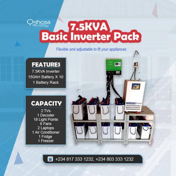 7.5 KVA Basic Inverter Pack